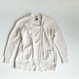 Old Navy knit creme open front cardigan EUC XS(5T)